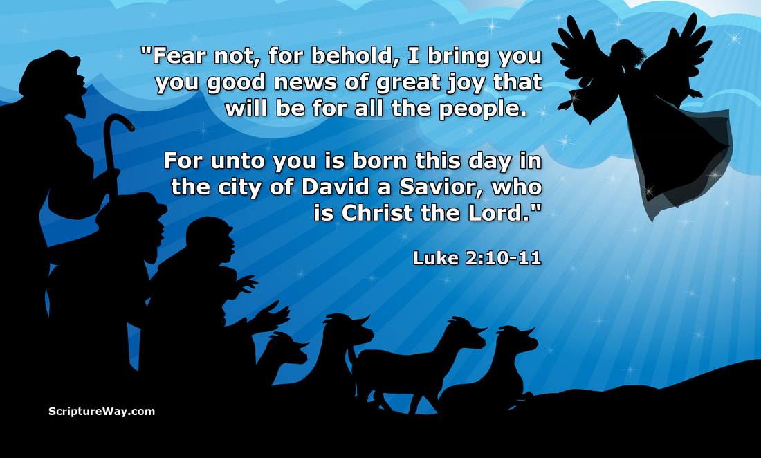 Angel Announces the Birth of the Savior - Luke 2:10-11 - 123RF Photo - Used under license
