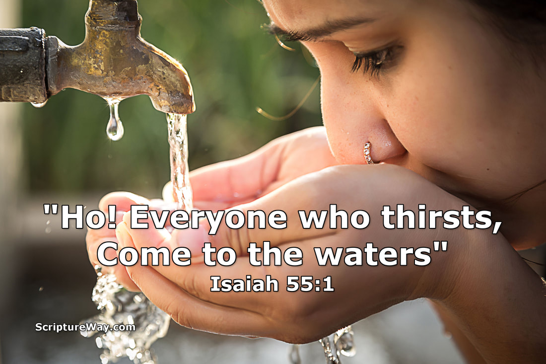 Come to the Waters - Isaiah 55:1 - 123RF Photo - Used under license