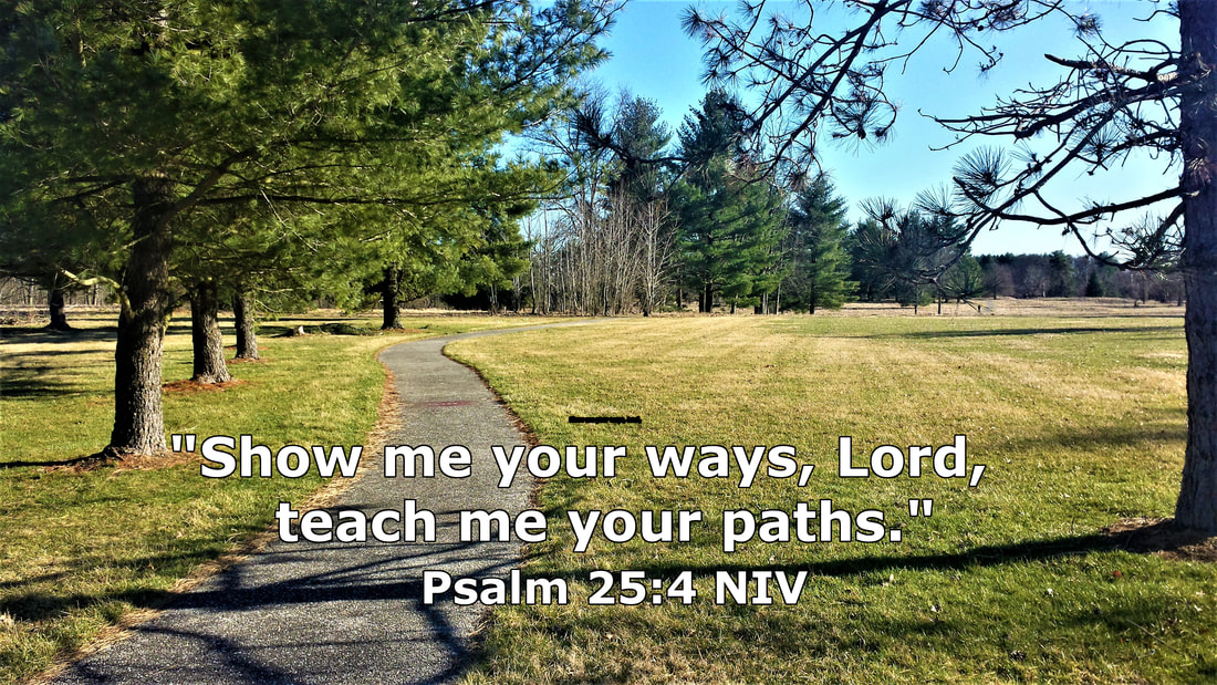 Gettysburg National Military Park Path with Psalm 25_4 - Photo by Whitney V Myers