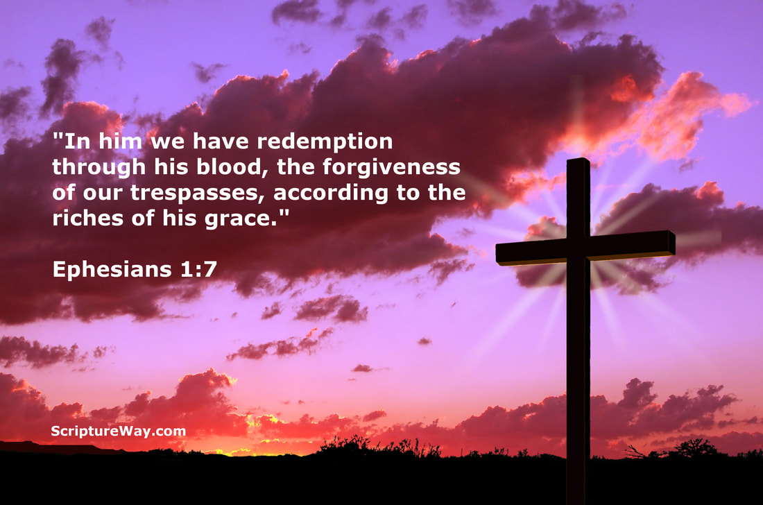 Redemption at the Cross of Jesus - Ephesians 1:7 - Canstock Photo - Used under license