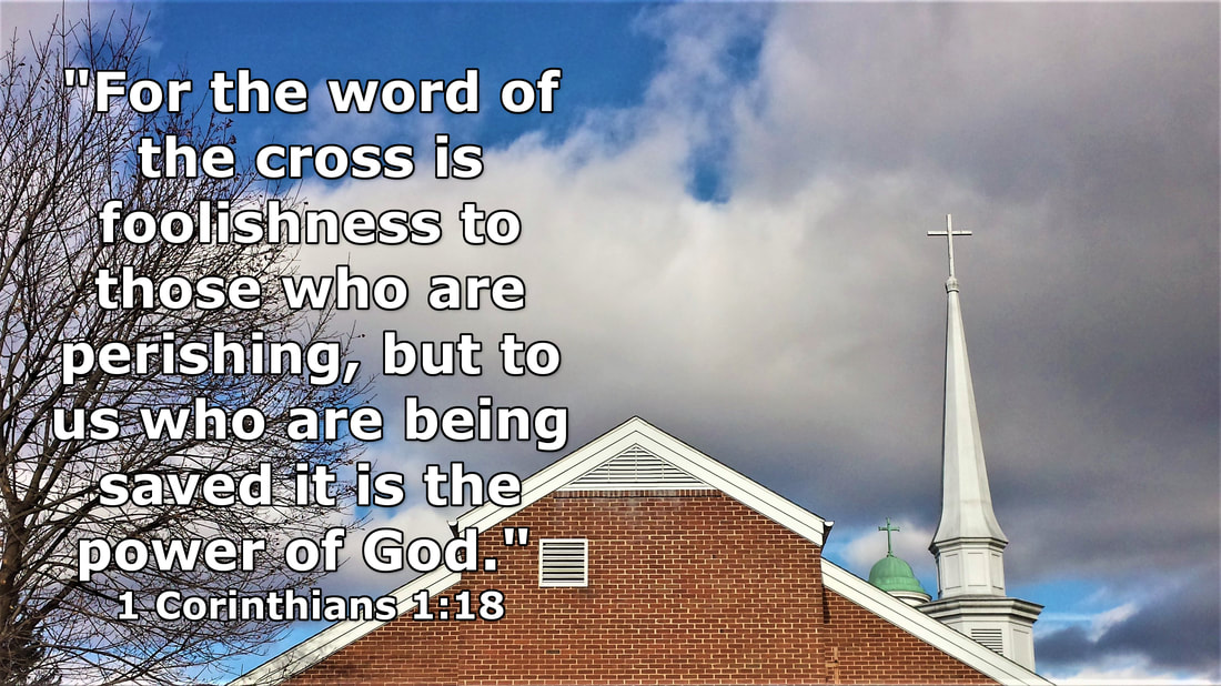 The Word of the Cross – 1 Corinthians 1:18 – Photo by Whitney V. Myers (Church Steeples with Crosses – Gettysburg, Pennsylvania, USA)