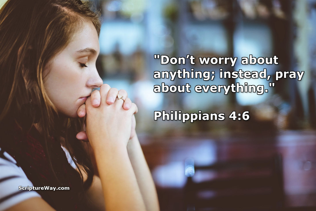 Woman Praying - Philippians 4:6 - Pixabay photo - Used under license